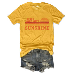 SALE Make Your Own Sunshine ... Retro Unisex Yellow Triblend Tee