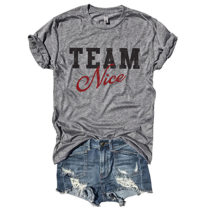 Team Nice...Funny Holiday Unisex Triblend Tee