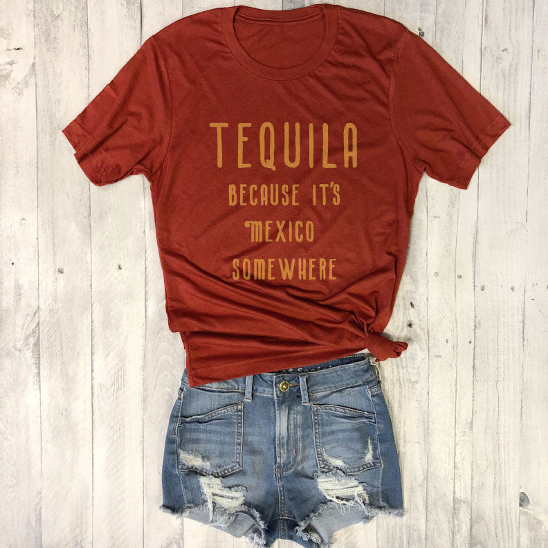 Tequila Because It's Mexico Somewhere ... Royal Unisex Triblend Tee