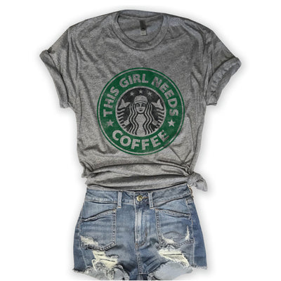This Girl Needs Coffee Unisex Triblend Tee