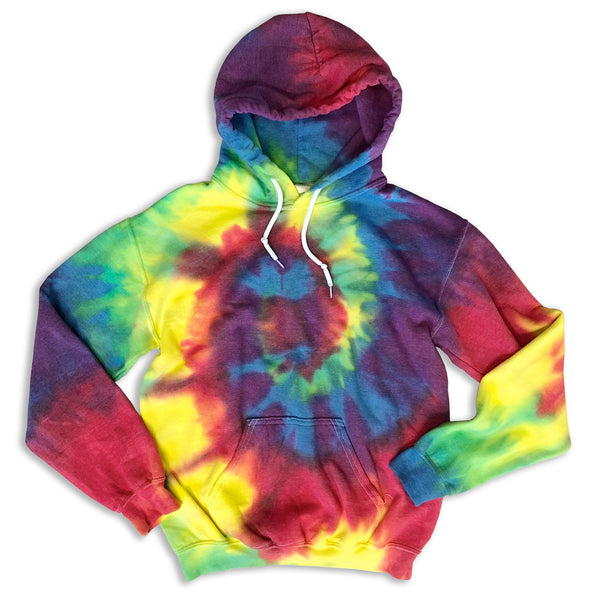 Super Cozy, Tie Dye Hooded Cotton Sweatshirt