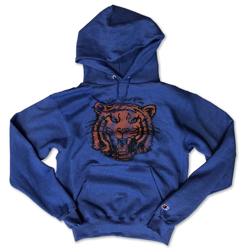 Go Get Em Tiger ... Heather Royal Champion Brand Unisex Hoodie-Everfitte-[drinking shirt]-[alcohol shirt]-[bachelorette party]-[bridal party]-[funny shirt]-[funny tee]-[shirt with words]-[coffee in the shower]-[lululemon]-[chaser]-Everfitte