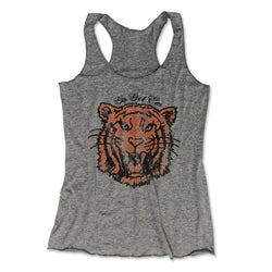 Go Get Em Tiger ...Retro Grey Triblend Racerback Tank-Everfitte-[drinking shirt]-[alcohol shirt]-[bachelorette party]-[bridal party]-[funny shirt]-[funny tee]-[shirt with words]-[coffee in the shower]-[lululemon]-[chaser]-Everfitte