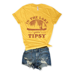 Sale!! In The Lake Getting' Tipsy Yellow Unisex Tee