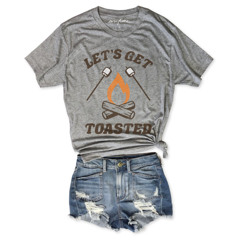 Let's Get Toasted .....Funny Camping Unisex Triblend Tee-Everfitte-[funny family shirt]-[drinking shirts]-[bachelor shirt]-[bachelorette party tees]-[bridal party shirt]-[bridal party tee]-[group drinking tees]-[funny vodka shirt]-[funny tequila tee]-[funny tequila tshirt]-[funny whiskey tshirt]-[funny drinking shirt]-[tequila t-shirt]-[vodka t-shirt]-[whiskey t-shirt]-Everfitte