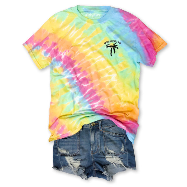 Sale!  Tropic Like It's Hot... Summer Cotton Tie Dye Tee