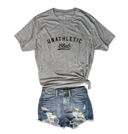 SALE! Unathletic Club ... Heather Grey Unisex Triblend Tee