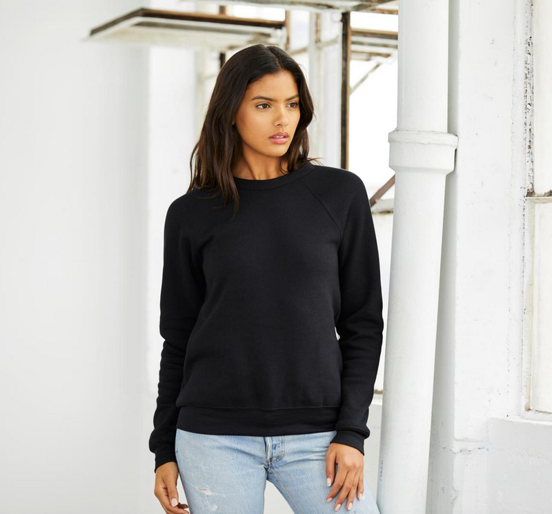 Love You To The End Zone and Back..Black Drop Shoulder Crew Neck Sweatshirt
