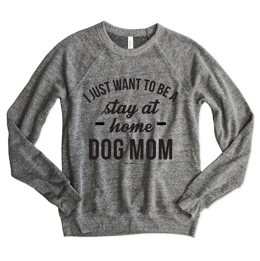 Stay At Home Dog Mom Unisex Raglan Sweatshirt