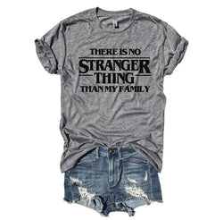SALE! There is no Stranger Thing Than My Family...  Gray Unisex Triblend Tee