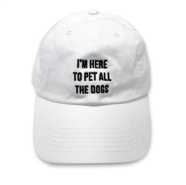 80d859361cb EMBROIDERED White Funny Dad dog mom