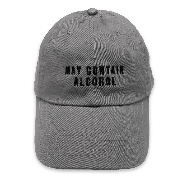 May Contain Alcohol dad hat, Funny dad hat, Bachelorette party hat, Funny holiday hat, bachelor party hat, bridal shower, adjustable hat, embroidered dad hat, college football hat, retro dad hat, vintage dad hat, everfitte