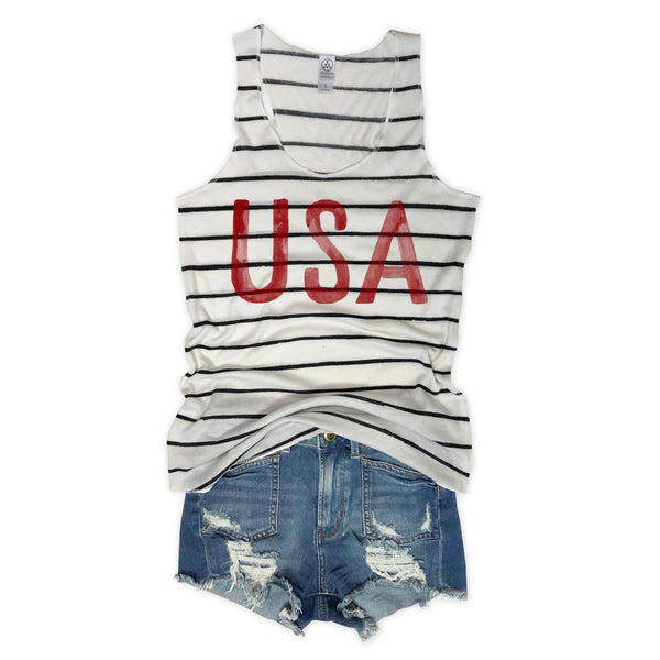 Watercolor USA Striped Eco Racerback-Everfitte-[lululemon]-[chaser]-[athleta]-[spirtual gangster]-[champion]-[graphic tee]-[gym shirt]-[workout tee]-[funny shirt]-[funny tee]-[muscle tee]-Everfitte