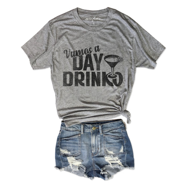 Vamos a Day Drinko ... Funny Heather Grey Unisex Triblend Tee