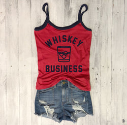 Sale!!! Whiskey Business...Retro Ringer Tank