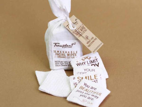 Happy Is Pretty - 15 Organic Cotton Facial Wipes