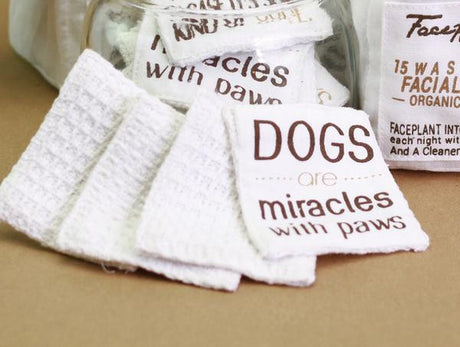 Dog Lovers - 15 Organic Cotton Facial Wipes