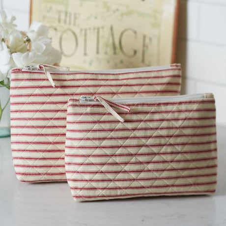 Bergen Stripe Cosmetic Bag