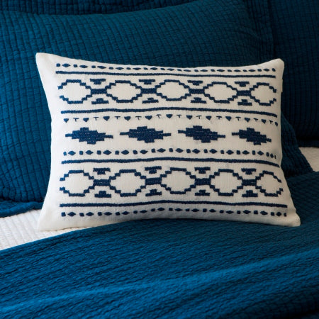Britten Indigo Embroidered Pillow