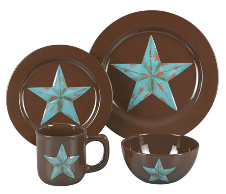 16 PC Star Dinnerware Set