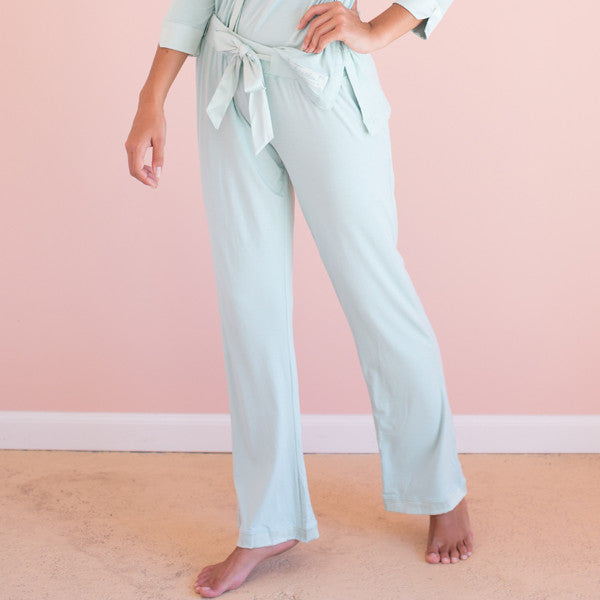 Bamboo Long Pant Color: Aqua
