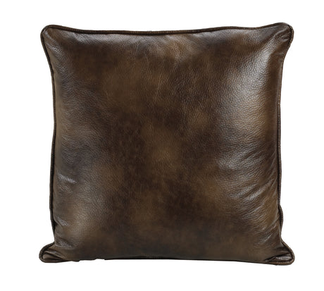 Dark Faux Leather Euro Sham