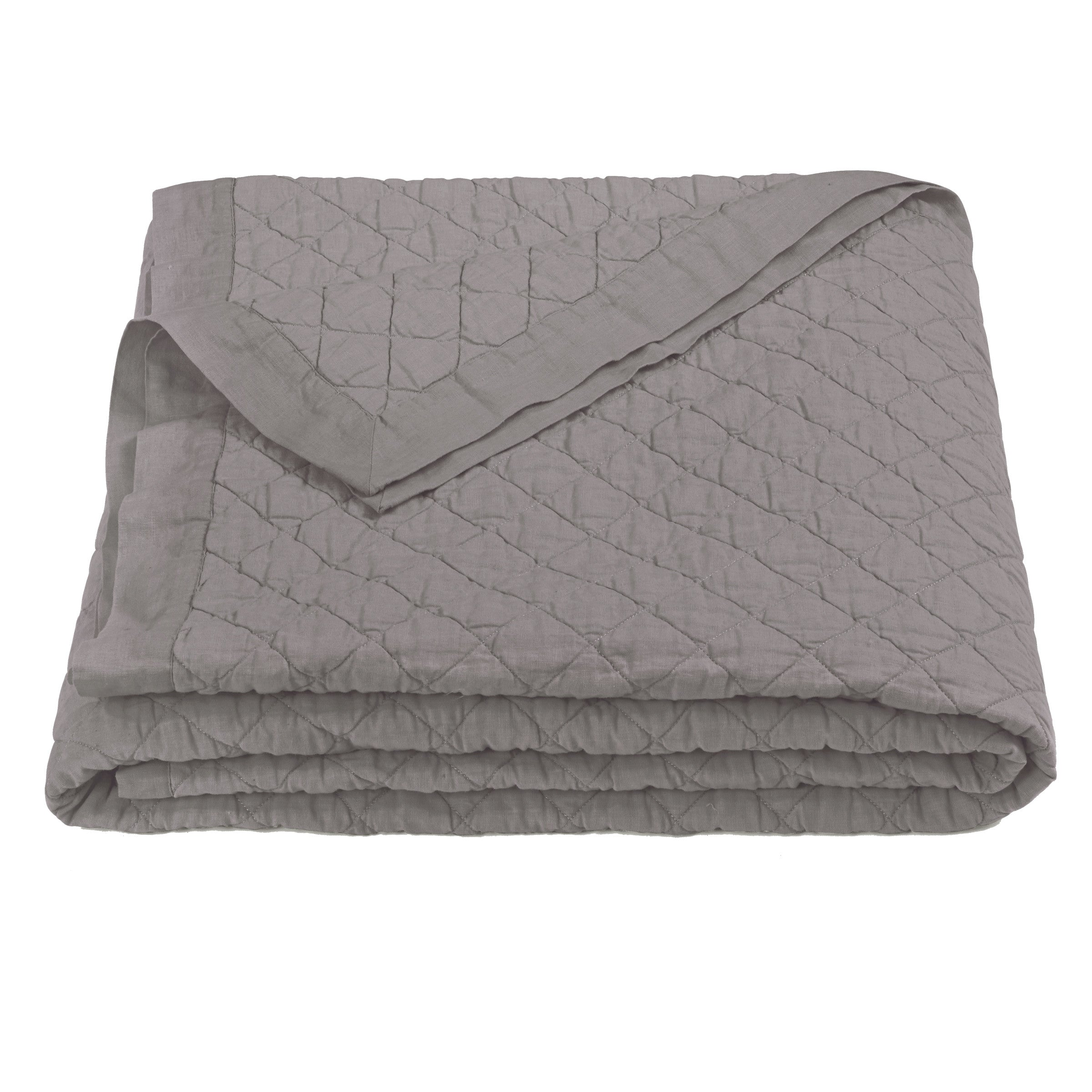 Diamond Pattern Linen Quilt (King) | Side Street Bed and Bath : linen quilt king - Adamdwight.com