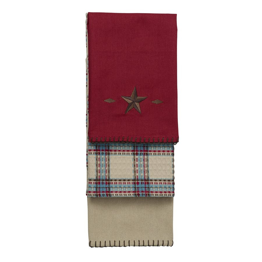 3 PC Star Kitchen Towel Set