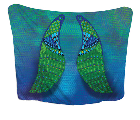 Huggme Peacock Wing Blanket