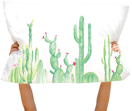 Microfiber Cacti Line Straight to Point Pillowcase