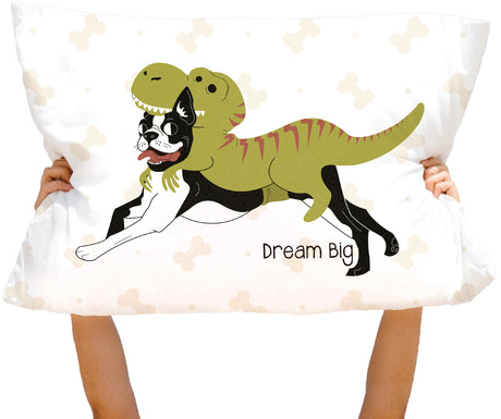 Microfiber Dream Big DogiRex Pillowcase