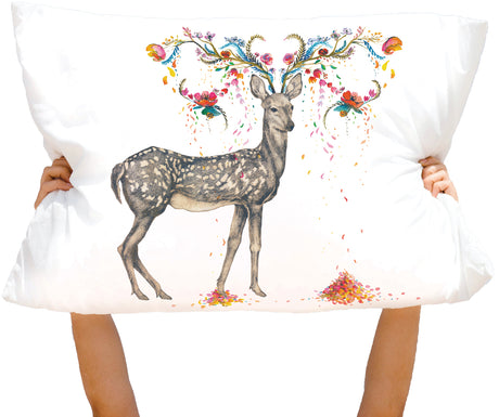 Microfiber Hello Deer! Pillowcase