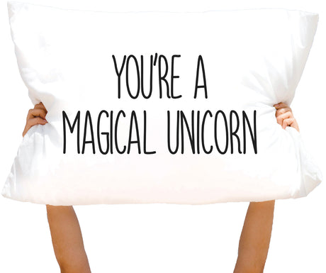 "Microfiber ""You're a Magical Unicorn"" Pillowcase"