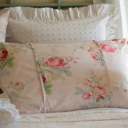 Petal Shore Rose King Sham