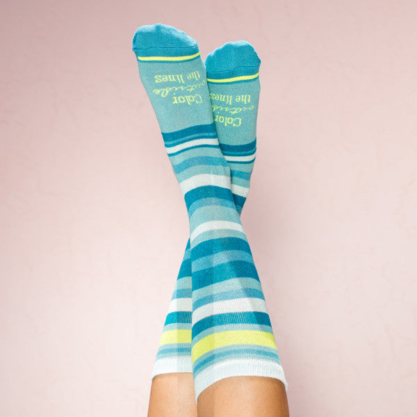 Bamboo socks:Color Outside the Lines: one size