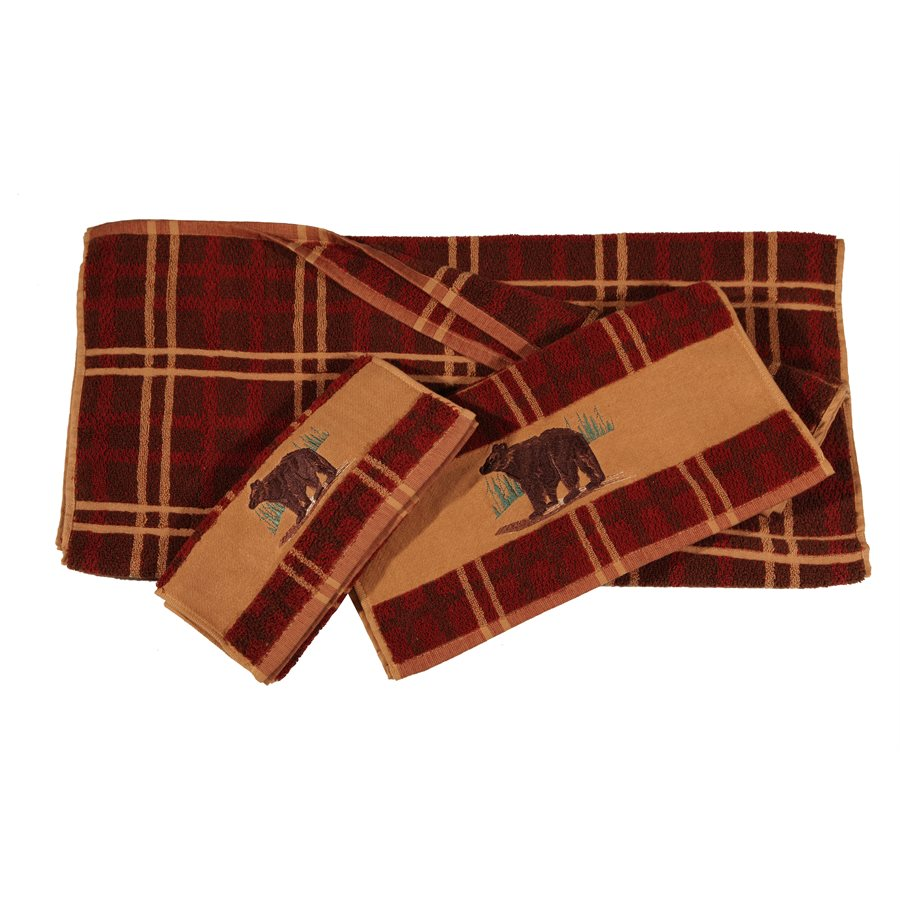3 PC Bear Towel Set