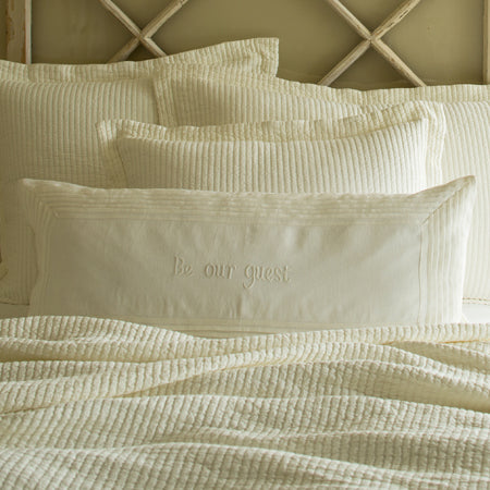Be Our Guest Bolster Cream Linen