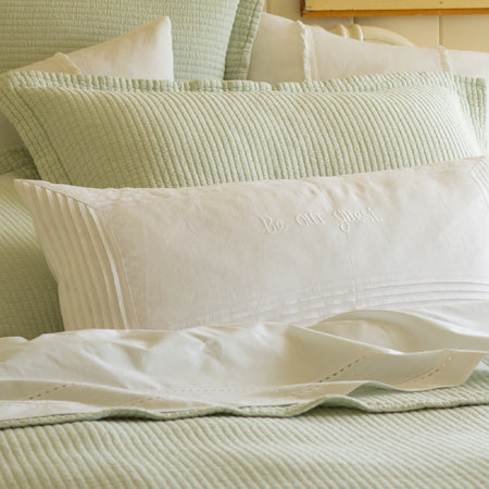 Be Our Guest Bolster White Linen