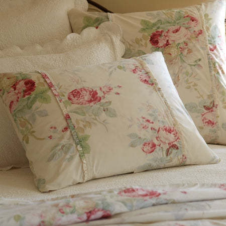 Cream Shore Rose King Sham