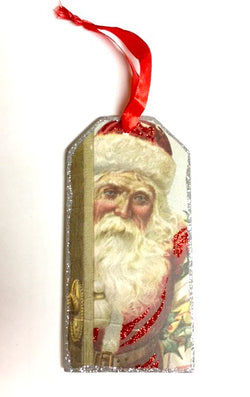 Santa Bottle Tag - Bohemian Trading Post