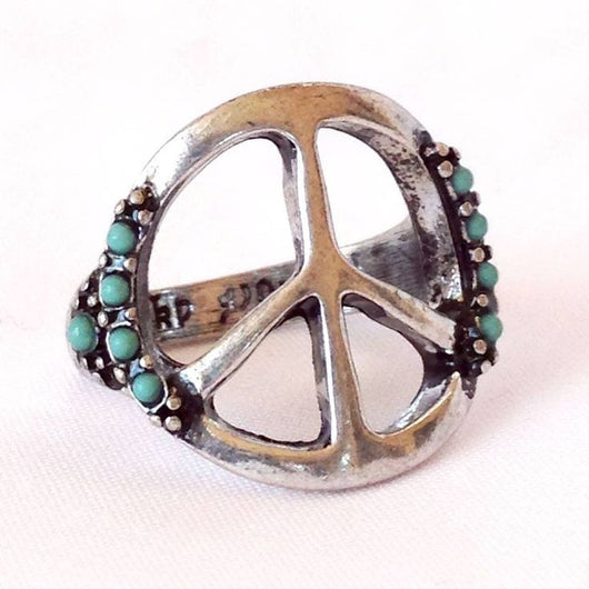 Hippie Peace Ring - Bohemian Trading Post