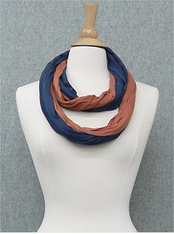 Camden Two Tone Cotton Infinity Scarf