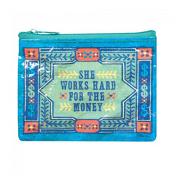 She Works Hard Coin Purse - Bohemian Trading Post