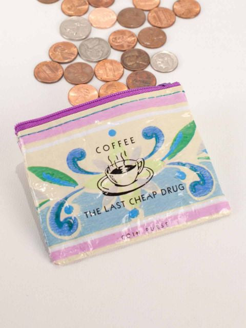 Coffee Money Coin Purse made of Recycled Materials