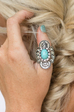 Gypsy Star Stone Ring + Turquoise - Bohemian Trading Post