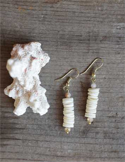 Puka Shell Earrings - Bohemian Trading Post