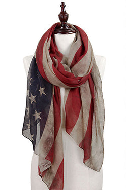 Liberty Vintage American Flag Scarf - Bohemian Trading Post