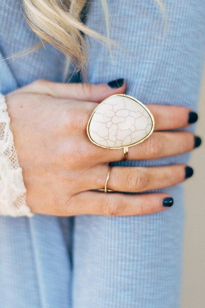 Sacred Statement Ring + Ivory - Bohemian Trading Post