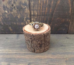 Antique Brass Bullet Ring