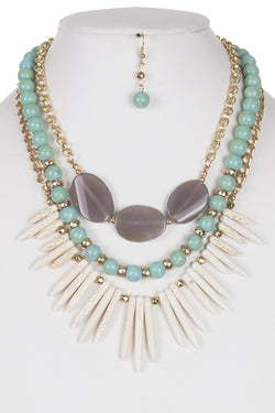 Brinley Necklace + Earring Set - Bohemian Trading Post